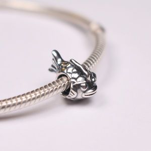 Authentic PANDORA Sterling Silver Happy Fish Charm